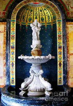 fountain in the conservatory, Wilson Hall, Monmouth University, New Jersey