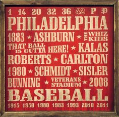 "Country Marketplace - Vintage Philadelphia #Phillies Wood Sign 18"" x 18""(http://www.countrymarketplaces.com/vintage-philadelphia-phillies-wood-sign-18-x-18/)"