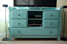 repurpose and repaint an old dresser for a tv/entertainment center
