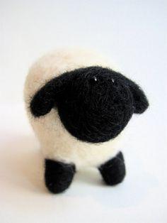 Nursery Decor - Felt Sheep Lamb - Spring Baby Animal - Needle Felted Animal Sculpture