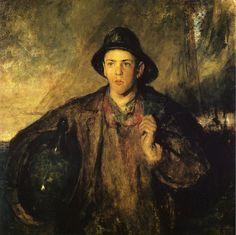 """ Charles W. Hawthorne - The Fisher Boy (1908) """