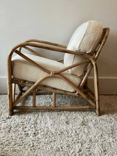 Rotan lounge stoel Wishbone Chair, Bamboo, Decoration, New Homes, Lounge, House Design, Interior Design, Living Room, Bedroom