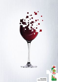 Stain remover ad for wine! Advertising Fails, Wine Advertising, Creative Advertising, Vino Color, Wein Poster, Wine Glass, Glass Art, Commercial Carpet Cleaning, Wine Logo