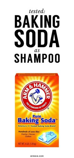 THIS is what happens when you swap shampoo for baking soda #BakingSodaAndShampoo #BakingSodaBeautyUses Baking Soda Dry Shampoo, Baking Soda For Skin, Baking Soda For Dandruff, Baking Soda And Honey, Baking Soda Baking Powder, Apple Cider Vinegar Shampoo, Honey Shampoo, Baking Soda Water, Baking Soda Cleaning