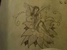 A flower fairy I found in a book and decided I wanted to draw it and add to my collection