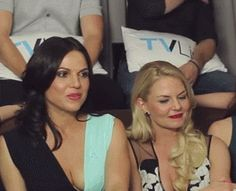 Lana and Jen's reaction to Colin saying hook spent most of the season trying to protect Emma from the darkness