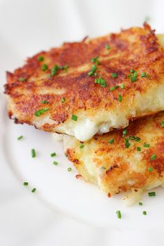 Cheese Stuffed Mashed Potato Cakes Video Recipe | Olga's Flavor Factory