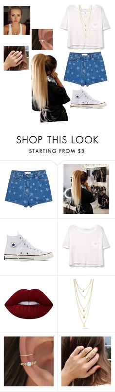 """""""No. 100"""" by jaed625 ❤ liked on Polyvore featuring Valentino, Converse, MANGO and Lime Crime"""