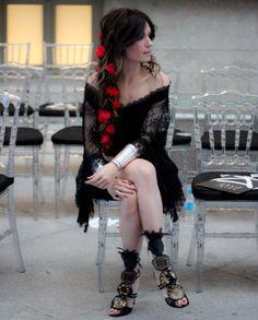 FRONT ROW & KISSING ROOM PASARELA COSTURA ESPAÑA:  Ángela del blog Madame de rosa