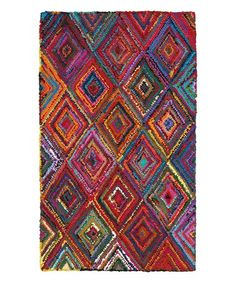 LR Home Layla Multi-coloreded Contemporary Abstract Rug - x (Multi - Cotton/Natural Fiber - Abstract/Geometric) Rya Rug, Online Home Decor Stores, Nantucket, Colorful Rugs, Rug Size, Bohemian Rug, Boho, Abstract, Indoor
