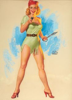 EARL MORAN (American, Pirate Girl Pastel on board x in. Signed middle right From the - Available at 2012 March Illustration Art. Pin Up Vintage, Vintage Goth, Vintage Style, Vintage Ladies, Earl Moran, Pinup Art, Gil Elvgren, Pin Up Pictures, Girl Pictures
