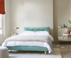 Διπλό κρεβατι 1.60 x 200 | Hugmaison Cushion Headboard, Bed Legs, Thatched House, Old Beds, Bed Back, Comfy Bed, Solid Oak, Mattress, New Homes