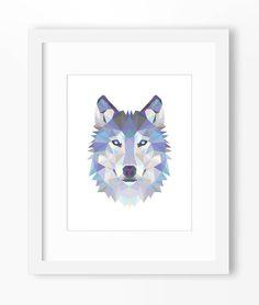 Wolf Print, Wolf Art, Wolf Wall Art, Geometric Wolf Print, Wolf Print, Origami Wolf, Geometric Wolf, Triangle Wolf, Wolf Face, Triangle Wolf by Abodica on Etsy https://www.etsy.com/listing/211477661/wolf-print-wolf-art-wolf-wall-art