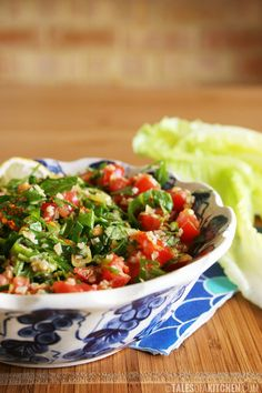 Less traditional tabbouleh, simple and rich in flavour.