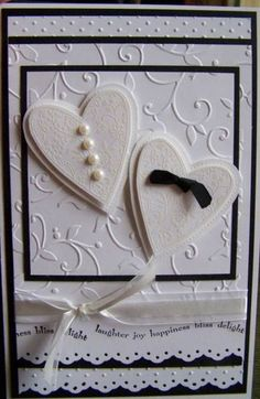 Black and White wedding card by cischroed - Cards and Paper Crafts at Splitcoaststampers