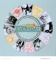 "#papercraft #scrapbook #layout.  Layout Tutorial: ""Everyday"" Using Studio Calico's Camelot Kit"