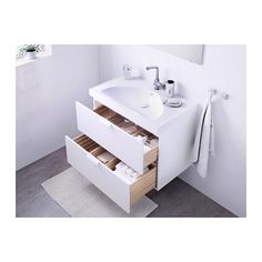 GODMORGON / EDEBOVIKEN Meuble lavabo 2tir - blanc - IKEA