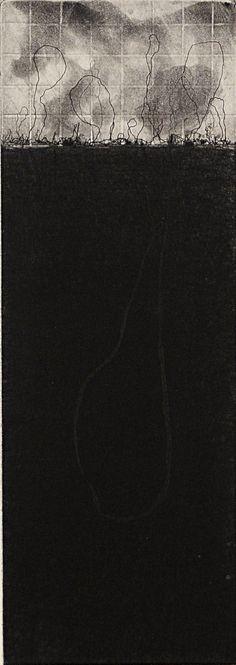 Storm by Janet Yagoda Shagam - American, (1949)  Mezzotint Spit Bite Relief        Mezzotint Spit Bite Relief