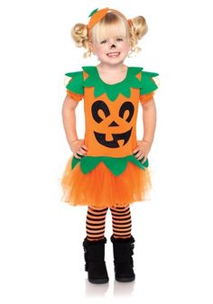 Treat your little Jackie Lantern to this Child Pretty Pumpkin Costume. It's a classic way to celebrate this ghoulish holiday.