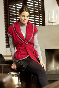Embroidered Fleece Wrap Jacket Pattern