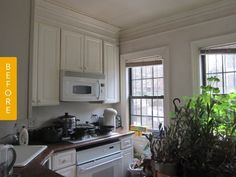 Before & After: A Clever, Colorful Upgrade for a Small City Kitchen — Reader Kitchen Remodel