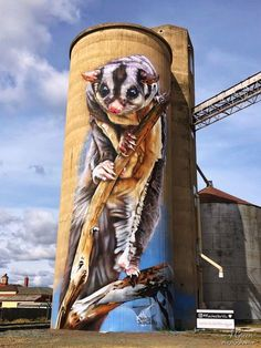 Silo Art Trail - Australia's number one must do road trip - Great Australian Adventure Murals Street Art, Street Art Banksy, Graffiti Murals, 3d Street Art, Amazing Street Art, Mural Art, Street Artists, Art Du Monde, Urban Graffiti