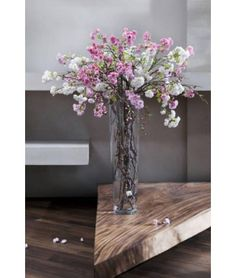 SIA HOME FASHION - CHERRY BLOSSOM & TWIGS IN A TALL FLOOR STANDING VASE. - WEDDING/EVENT HIRE COMING SOON TO SILK PETAL...!!!