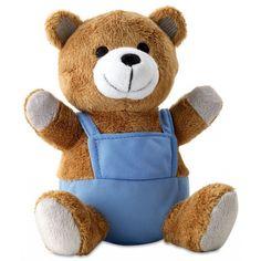 Knuffeldieren beer met blauwe outfit  Pluche teddybeer met blauwe outfit. Zachte bruine knuffelbeer met blauw tuinbroekje aan. Het formaat van het pluche beertje is ongeveer 16 x 145 x 125 cm.  EUR 5.95  Meer informatie