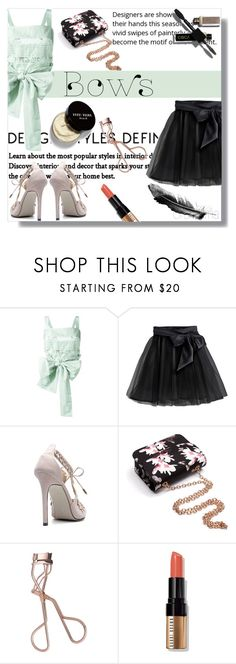 """""""#bows"""" by crsharma ❤ liked on Polyvore featuring Rochas, Little Wardrobe London, Charlotte Tilbury and Bobbi Brown Cosmetics"""