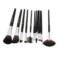 """Rosallini 12 Pcs Cosmetic Tool Black Face Eye Liner Brush Faux Leather Pouch by Rosallini. $12.08. Product Name : Make Up Brush;Material : Plastic, Metal, Synthetic Hair;Color : Coffee Color, Black. Package Content : 3 x Powder Brush;4 x Eye Liner Brush : 4 x Eye Liner Brush;2 x Eye Shadow Brush : 2 x Eye Shadow Brush. Total Size : Min.:17 x 0.6cm/ 6.7"""" x 0.2"""" (L*D);Max:20 x 4.5cm/ 7.9"""" x 1.8""""(L*W) : Max:20 x 4.5cm/ 7.9"""" x 1.8""""(L*W);Net Weight : 185g. 1 x Brow Comb :..."""