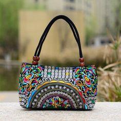 ac3cca4e7c0fa9 boho mandala handbag · Women's Travel Bag With Ethnic National Style Embroidery  Bags, Vintage Embroidery, Flower Embroidery,