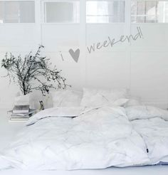 If I wasn't married to Ruggs, I'd have an ALL white bedroom. :)