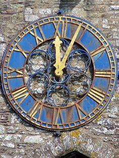 Clock at St Davids Cathedral Unusual Clocks, Cool Clocks, Cardiff Wales, Wales Uk, St Davids Cathedral, Pembrokeshire Wales, Travel Sights, Visit Wales, Cymru