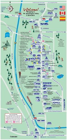 North Conway, NH Outlets and New Hampshire shopping map and guide.