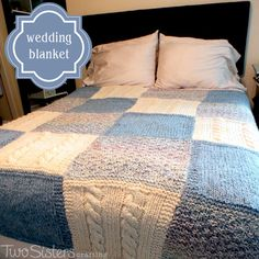 Tips and tricks for making a Knitted Afghan in six weeks using thick yarn, large needles and a Patchwork Trio Afghan pattern.
