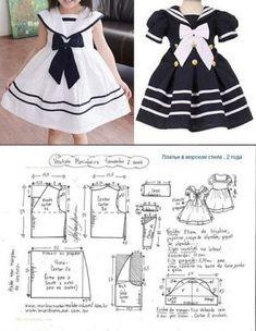 Frocks For Girls, Kids Frocks, Dresses Kids Girl, Baby Dress Patterns, Skirt Patterns, Coat Patterns, Blouse Patterns, Dress Anak, Baby Dress Design