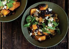 Smokey black and butternut squash ragout // vegetarian times