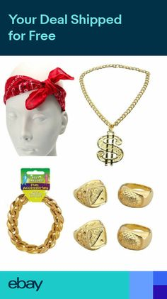 9b08baea9c70 Rapper 90s Hip Hop Gangster Gang Pimp Fancy Dress Stag Fun Costume  Accessories
