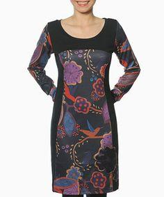 Look what I found on #zulily! Black & Purple Guthrie Dress #zulilyfinds