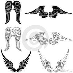 Set Of Six Pairs Angel Wings