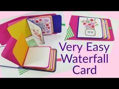 Easy Waterfall Card | Video Tutorial - YouTube