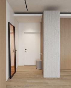 hallway Nordic Interior, Interior Design, Minimalist Home, Foyer, Architecture Design, Minimalism, Sofa, Bedroom, City