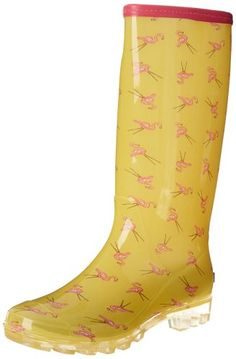 Bootsi Tootsi Women's Flamingo Wellies! A must for the rainy season!
