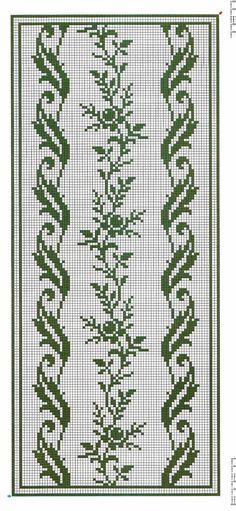 Crochet Border Stitch I'd do it in a different colour. Funny Cross Stitch Patterns, Cross Stitch Borders, Crochet Stitches Patterns, Weaving Patterns, Cross Stitch Flowers, Cross Stitch Designs, Cross Stitching, Cross Stitch Embroidery, Crochet Bedspread
