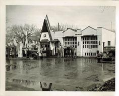 Boscobel Wisconsin Original Black White Photo Old Gas Station