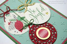 http://www.queenpipcards.com/merry-christmas-card-idea/ Stampin' Up! Stampin Up  Merriest Wishes bundle  Merry Tags  Christmas Craft Retreat project #CraftRetreat #Christmas2016