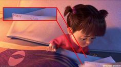 "Boo's real name is Mary. | 16 Things You Might Not Know About ""Monsters Inc."" I FINALLY KNOW!!!!! Lol"