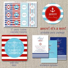 Nautical Baby Shower Package