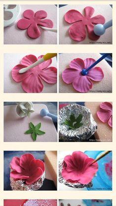 Food Drink - -rose cake topper - Her Crochet flowercake Sugar Paste Flowers, Icing Flowers, Fondant Flowers, Paper Flowers, Cake Decorating Supplies, Cake Decorating Techniques, Cake Decorating Tutorials, Polymer Clay Flowers, Ceramic Flowers