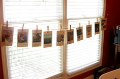 great idea for timeline cards...for those short on wall space!